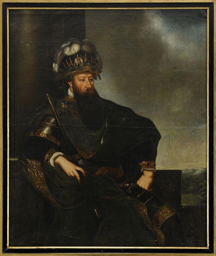 Gustaf I of Sweden, AKA Gustavus Wasa, Liberator of Sweden and vanquisher of Danes. Portrait by David Klöcker Ehrenstrahl.