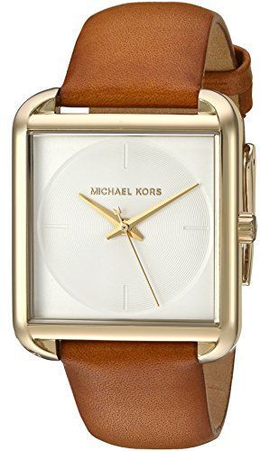 f6c4c46d8d7f Michael Kors Watches   Michael Kors Womens Quartz Stainless Steel and  Leather Automatic Watch ColorBrow