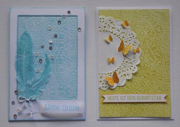 Papiergestaltung mit Wachspapier | Tutorial von Ulrike Ahlers für www.danipeuss.de #Waxpaper
