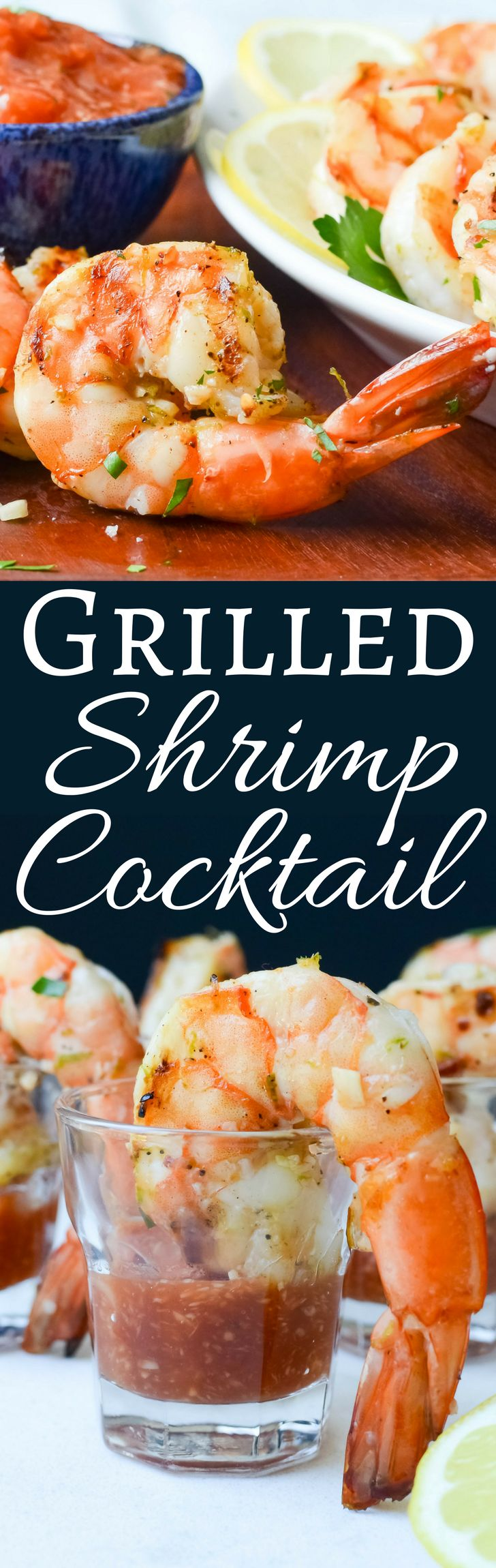 Need an easy shrimp recipe? This Grilled Shrimp Cocktail with homemade cocktail sauce has just a few ingredients and is ready in minutes. Great for entertaining!