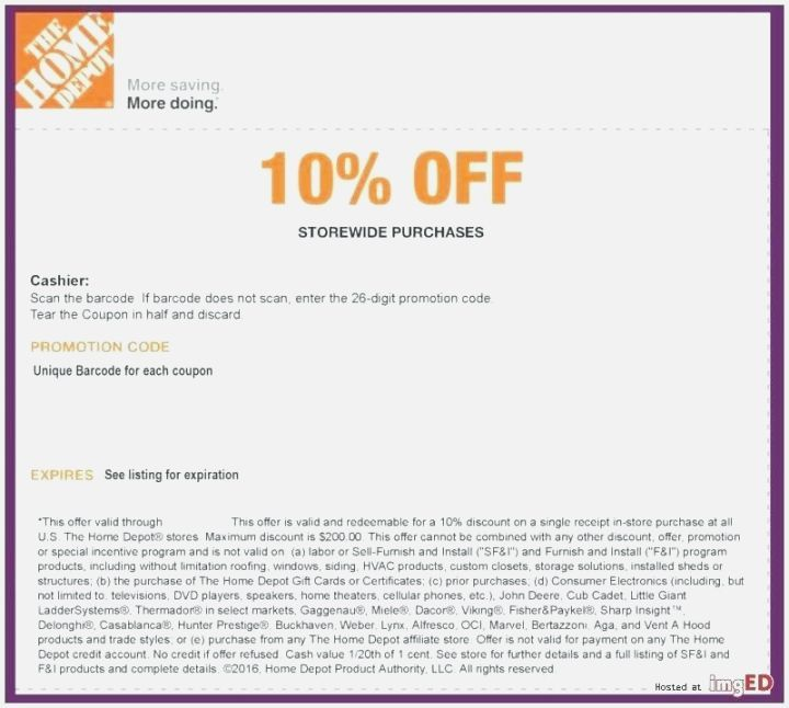 Home Depot 10 Off Coupon With Images Home Depot Coupons Home