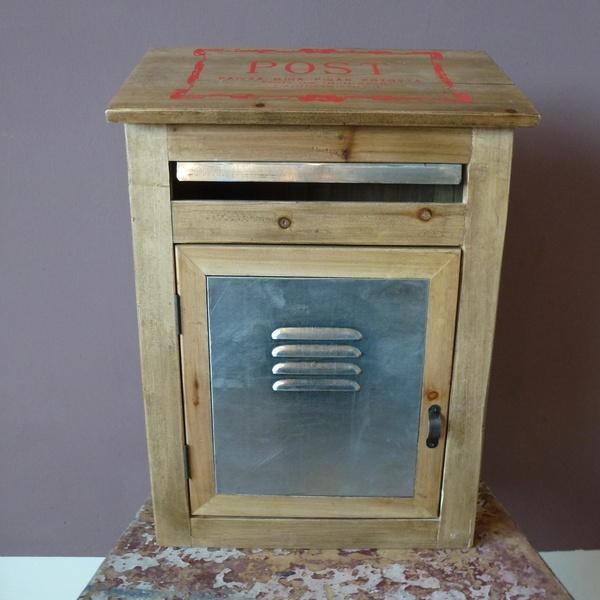 Vintage Briefkasten mit Aufdruck - shabby