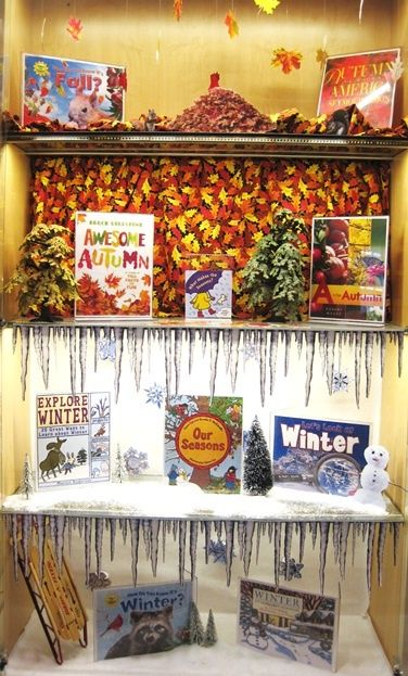 winter library displays   Fall and Winter   Library Book Display   Classroom Stuff