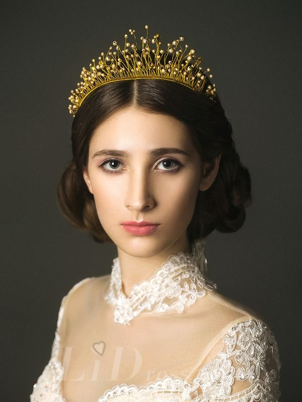 Diamonds Vintage Bridal Crown Head Pieces