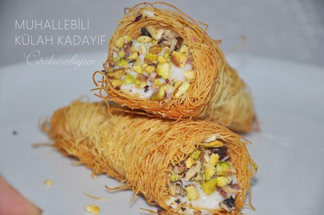 Butik kurabiye,yemek ve tatlı tarifleri,Turkish cuisine: MUHALLEBİLİ KÜLAH KADAYIF