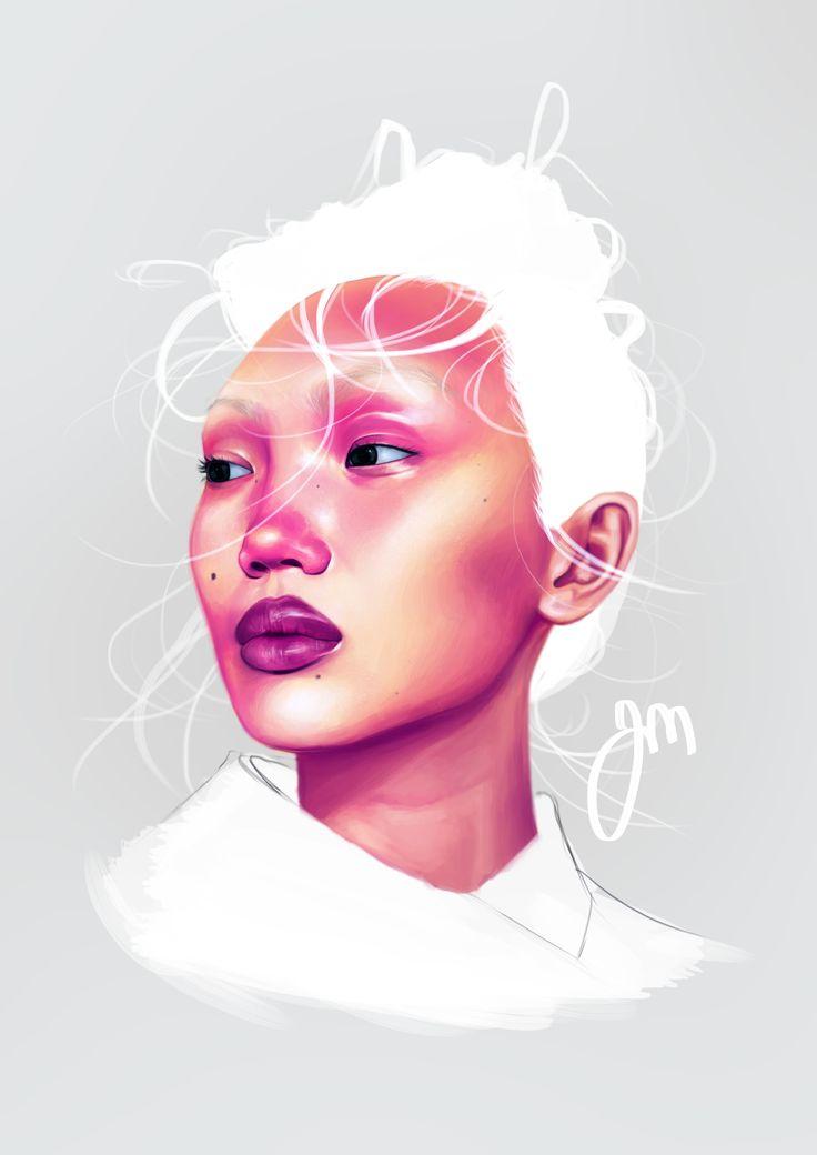 Portrait of Caroline Mac by Jenniina Martikainen