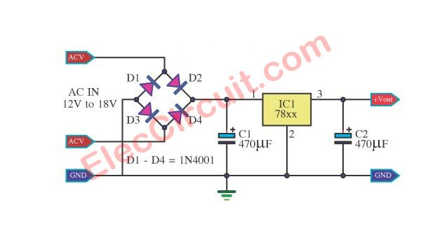 100 Power Supply Circuit Diagram With Pcb Eleccircuit Com Simple Electronic Circuits Power Supply Circuit Electronics Circuit