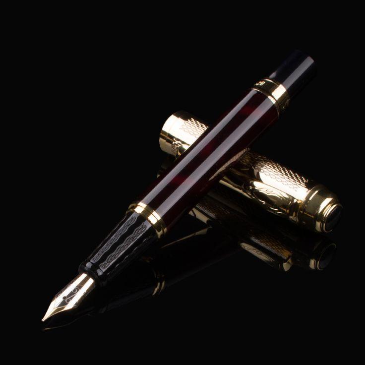 DIKA WEN 821 Gold for Gifts Without Pencil Box 0.5 mm Nib ink pen Business Pen Office Writing metal Fountain Pen