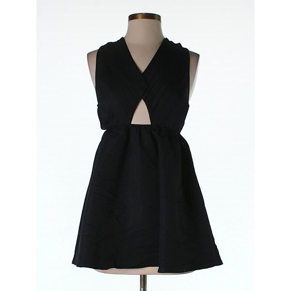 Pre-owned ASOS Cocktail Dress (€30) ❤ liked on Polyvore featuring dresses, black, pre owned dresses, asos, preowned dresses, asos cocktail dresses und asos dresses