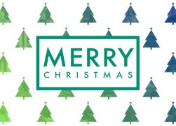 Green to blue light - Christmas cards Corporate