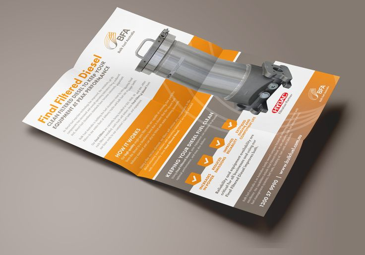 Past Project: Bulk Fuel Australia flyer design by iFactory. http://www.bulkfuel.com.au/