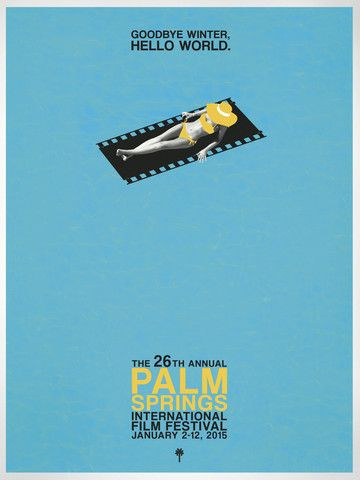 Destination PSP - 2015 Palm Springs International Film Festival Poster Set of 2