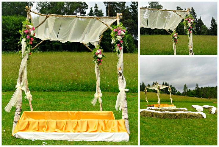 Birch wedding chuppah
