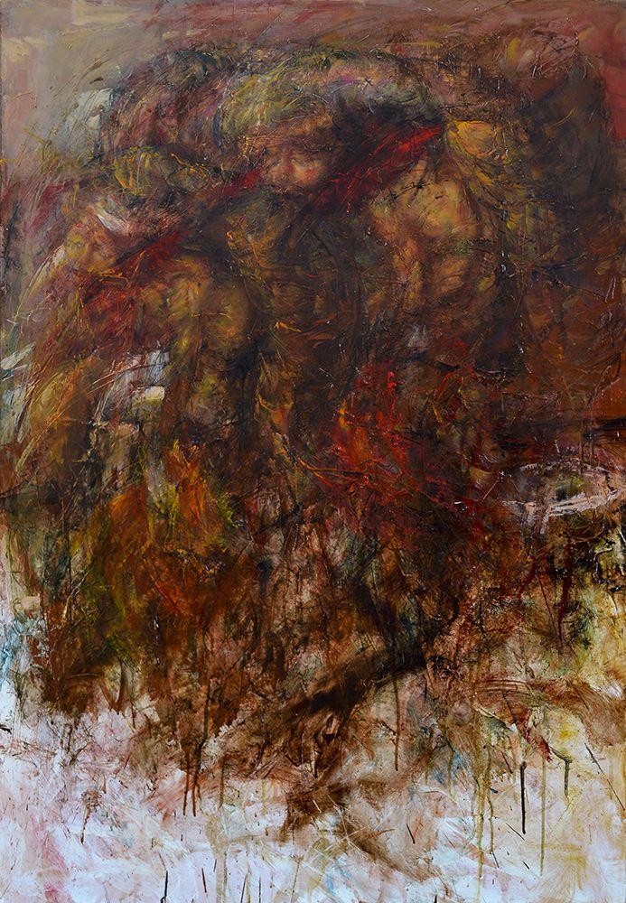 SOCIAL AID Author's mixed technique, 64 x 94 cm