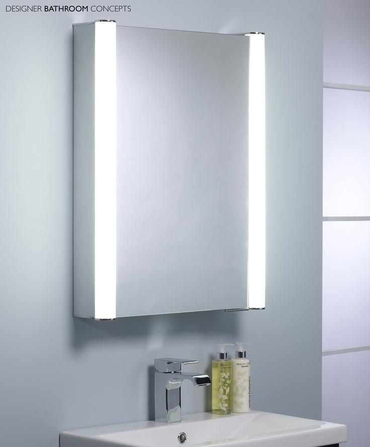 bathroom cabinet online design tool%0A Vivid Designer Illuminated Single Door Cabinet from  DesignerBathroomConcepts com