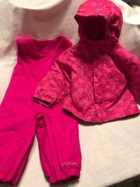 68839980d7dd Girl 12   18 M Columbia Set Winter Coat Bib Pant Baby Toddler Snow ...