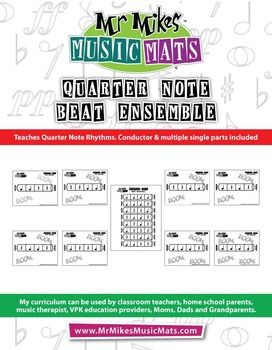 """Greetings: I'm Michael Welch. I'm offering a free digital download of Part 1 from my book """"Quarter Note Beat Ensemble""""Quarter Note Beat Ensemble teaches early learners about quarter note rhythms. The eight rhythms can be used as music and motion activities."""