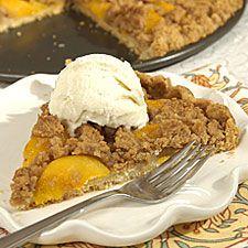 Dutch Crumb Peach Pizza:  peaches sound good but I'm sure apples would taste just like mr gatti's dessert!!
