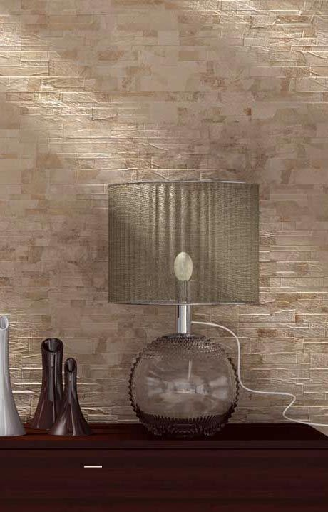 The Delhi collection is delicate and rustic at the same time. The detail and multi shading will bring a realistic stone effect to your walls, both indoor and out.