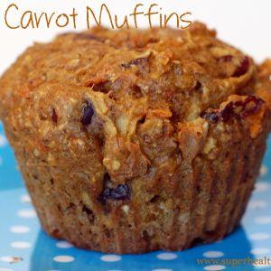 Flax Carrot Apple Muffin Recipe