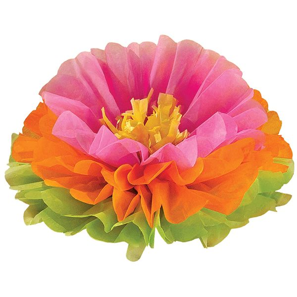 See what fun blooms at your luau party with this beautiful decoration. The Fluffy Hibiscus Decoration can be used as a hanging decoration to add the style of the isle to your luau party room or as a f