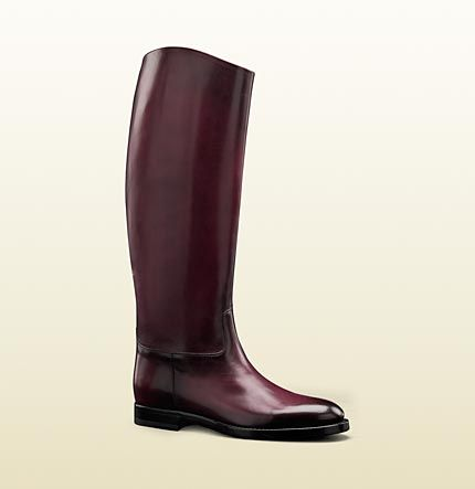 Men's brown polished leather riding boots--wow!