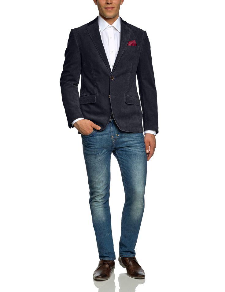 TOM TAILOR Herren Sakko 39002180011/blazer with chambray: Amazon.de: Bekleidung
