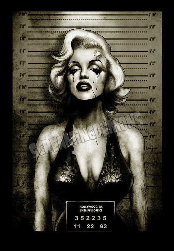 Marilyn Monroe Mugshot Art Print