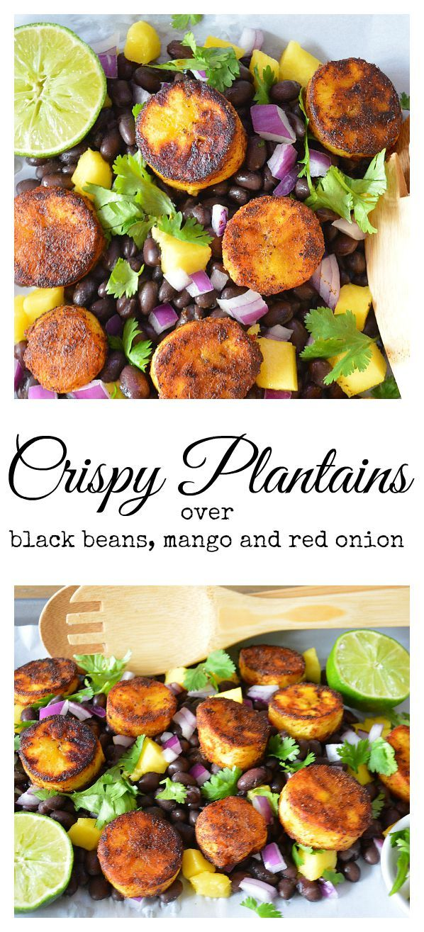 Crispy plantains are a comforting and tropical recipe any time of year. This is a filling and hearty vegan entree or side dish. #veganrecipes #tropicalrecipes #plantains