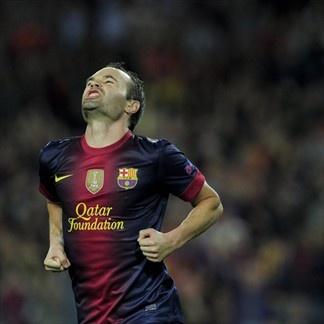 Andrés Iniesta, FC Barcelona.   FC Barcelona 2-1 Celtic. 23.10.12.