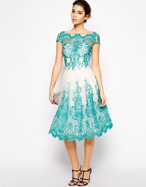 RSG-2235 Бирюзовое Пышное Платье Рэтро, до колен на свадьбу, выпускной, фото 3