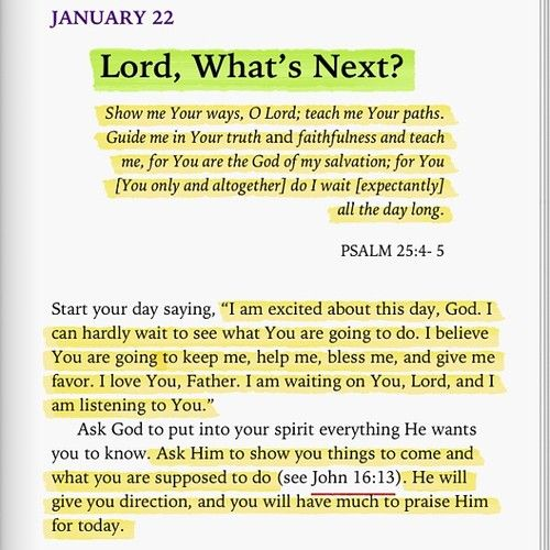 A message just for you - Psalm 25:4-5 - Start your day saying... John 16:13
