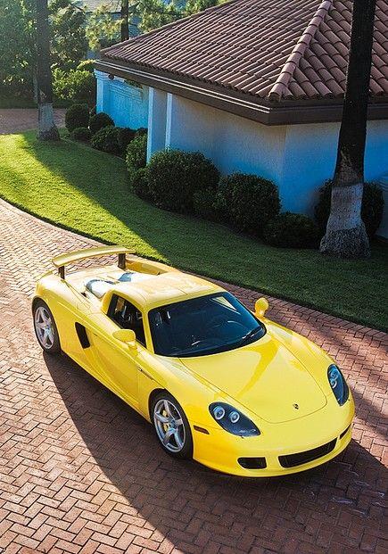 Porsche Carrera GT - yellow car
