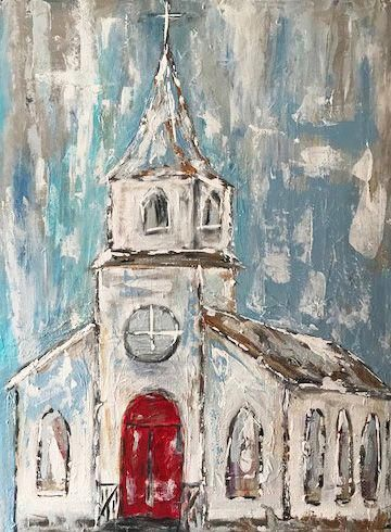 I Love To Paint Old Churches 16 X 20 Painted In Acrylics