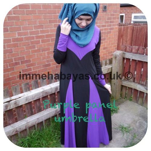 Blue and Purple Panel Umbrella