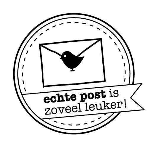 Stamp/Stempel Echte post is zoveel leuker! - € 9,95
