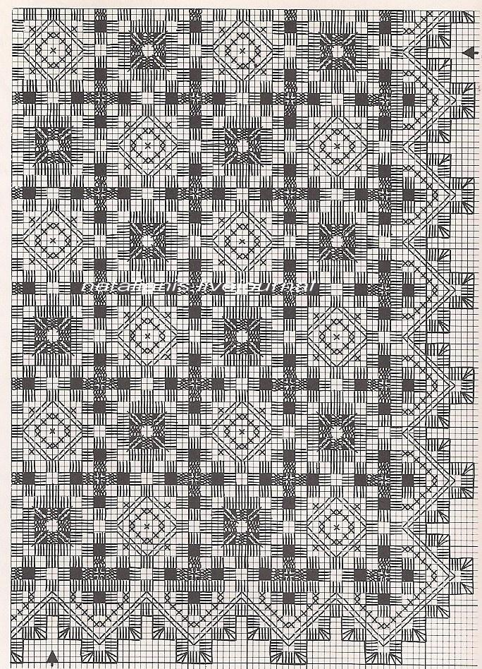 hardanger placemat pattern