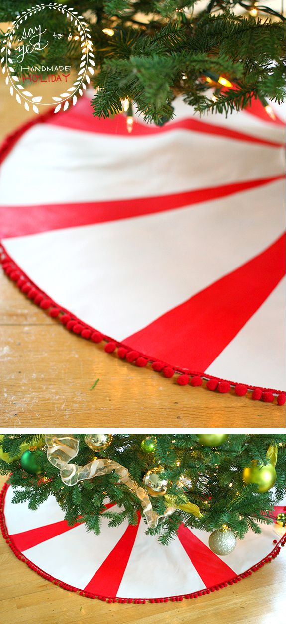 I love tree skirts, and thought it would be fun to make my own. I wanted something bright and bold since our tree is very monochromatic (green and gold). I thought a red and white peppermint candy shape would be perfect and very festive. It's super easy to make and requires very basic sewing skills. …