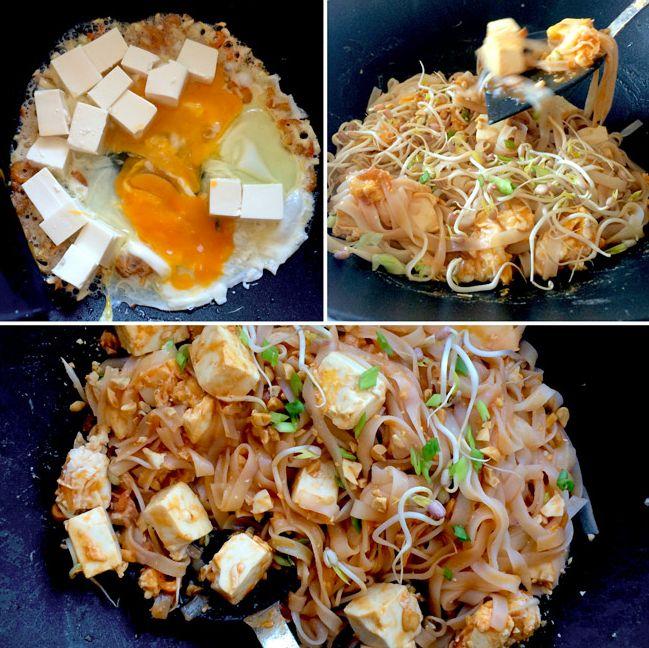 """Tagliolini di riso saltati in padella con uova, #tofu, aglio, #germogli di #soia, cipolla, erba cipollina, arachidi tritate e tostate, salsa di pesce, peperoncino e succo di lime: il #Pad #Thai (il """"Fritto alla Thailandese"""") racchiude tutti i principali condimenti della cucina Thai in un unico piatto, rendendolo un'esplosione di sapori tipicamente asiatici! #recipe #asia"""