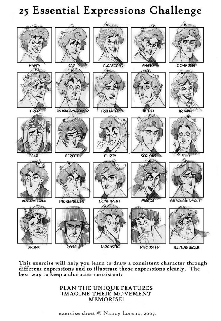 I did this unnamed guy expressions with references from some cartoon movies