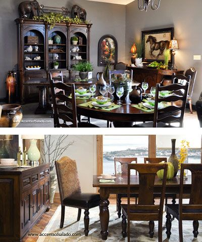Best 25 tuscan dining rooms ideas on pinterest mediterranean chairs tuscan design and wooden - Tuscany dining room furniture ideas ...