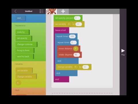 iPad App Hopscotch, Advanced Introduction for Computer