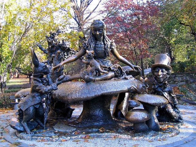 See the Alice in Wonderland sculpture at Central Park.
