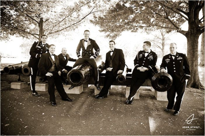 Groomsmen photo at USMA! Michelle and Brian's Wedding – West Point, NY : Adam Nyholt, Photographer