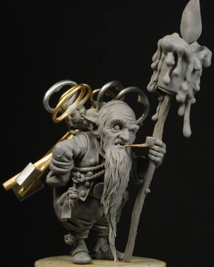 """The Key Keeper  Here is """"The Keykeeper"""" sculpted for the upcoming KickStarter campaign of Blacksmith Miniatures, based on the work of Jean-Baptiste Monge.    The figure is 37mm to top of the head.  So great to work on such an iconic character. Hope you like the result!    - Patrick Masson  Keep an e"""