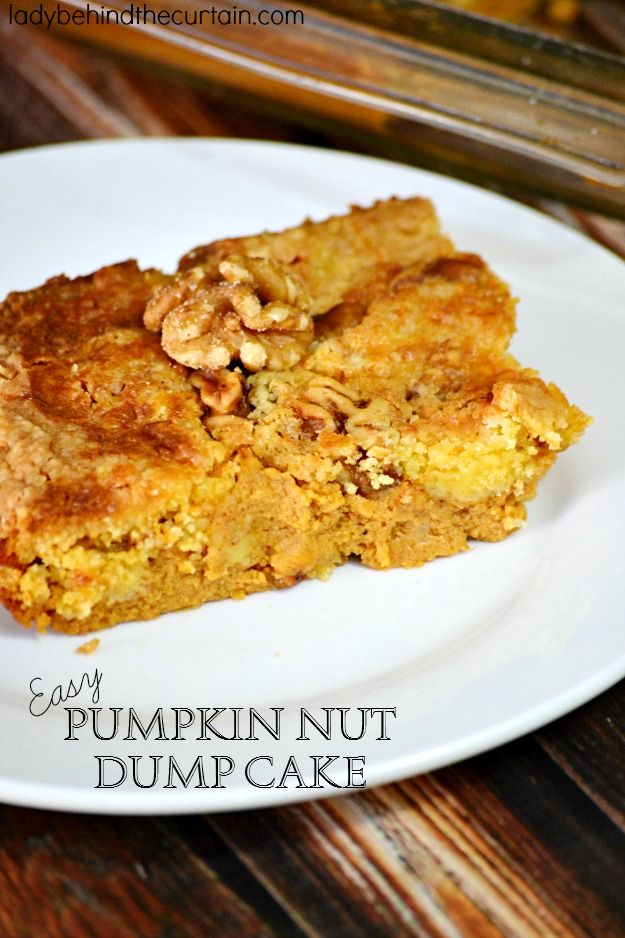 easy pumpkin nut dump cake pumpkin dump cakes pumpkin pumpkin pumpkin ...