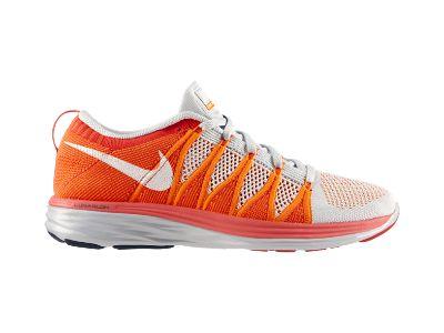 Nike Flyknit Lunar2 Men's Running Shoe - Orange & White