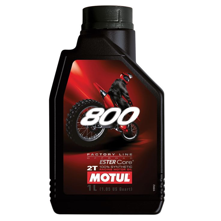 Motul 800 Factory Line 2T OFF-ROAD 100% Synthetic. Available in 1 & 4L.