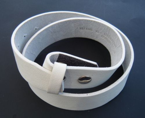 White Genuine Cowhide Leather Snap On Belt Strap For Belts Buckles #white #whitebelt #whiteleatherbelt #leatherbelt #snaponbelt #fashionbelt