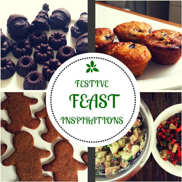Simple Inspirations for Holiday Feasting — Shambhala House of Yoga. Gingerbread, homemade chocolate, cherry muffins, potato salad, pineapple black bean salsa. http://shambhalahouseofyoga.com/blog//festive-food-for-the-holidays